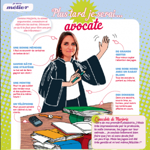 Le métier d'avocate expliqué aux enfants-magazine Julie