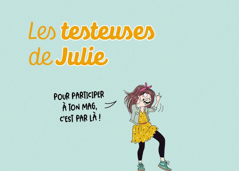 Les testeuses de Julie magazine