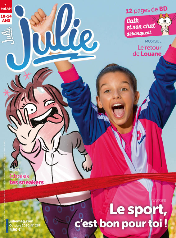 Couverture d'octobre du magazine Julie.