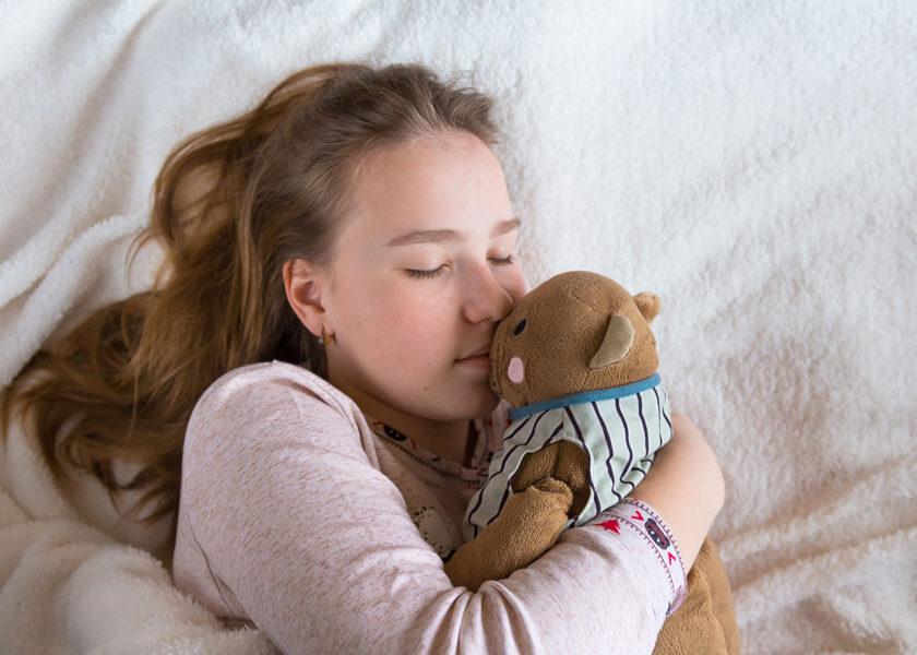 Je dors avec un doudou