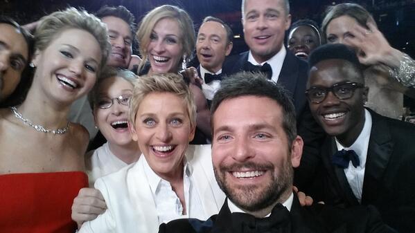 Selfie lors des Oscars 2014